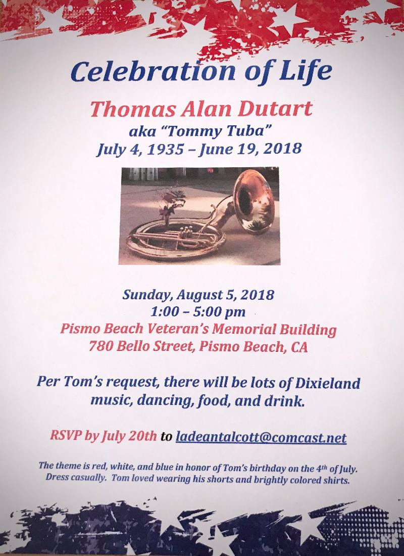 Tom Dutart Invitation