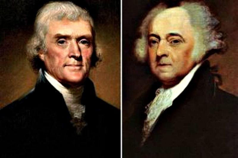 JEFFERSON & ADAMS – 50 years after the Declaration of Independence – they died the SAME DAY, July 4, 1826