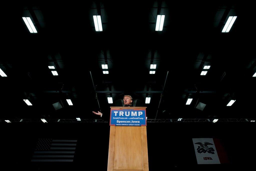 Donald J. Trump in Spencer, Iowa, last week.