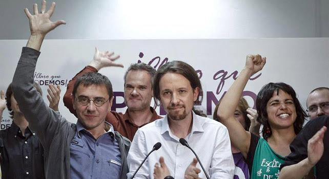 Pablo Iglesias, Juan Carlos Monedero o Teresa Rodríguez, entre otros, saludan a simpatizantes tras conocer el resultado