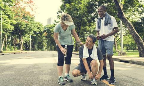 Image of seniors running.
