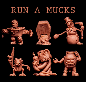 Run-A-Mucks Mini Figure Six-Pack