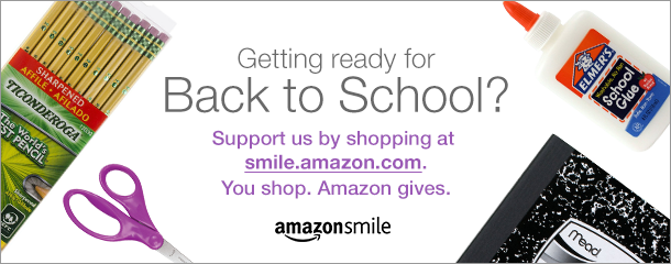 Support us when you shop for back-to-school items. #StartWithaSmile at http://smile.amazon.com/ch/27-1413865 and Amazon donates.