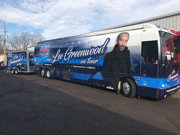 Lee Greenwood tour bus - ABC Supply