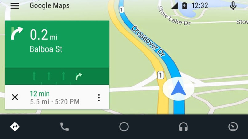 Android Auto map screen.