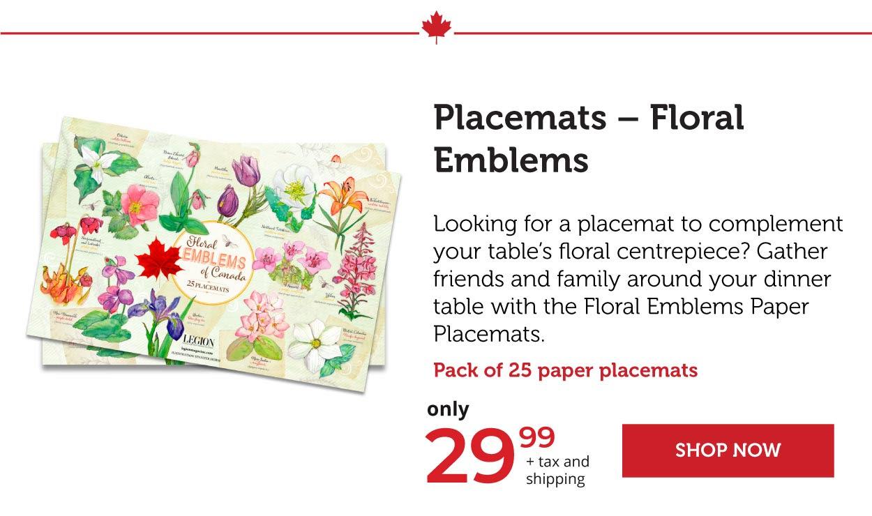 Placemats - Floral Emblems