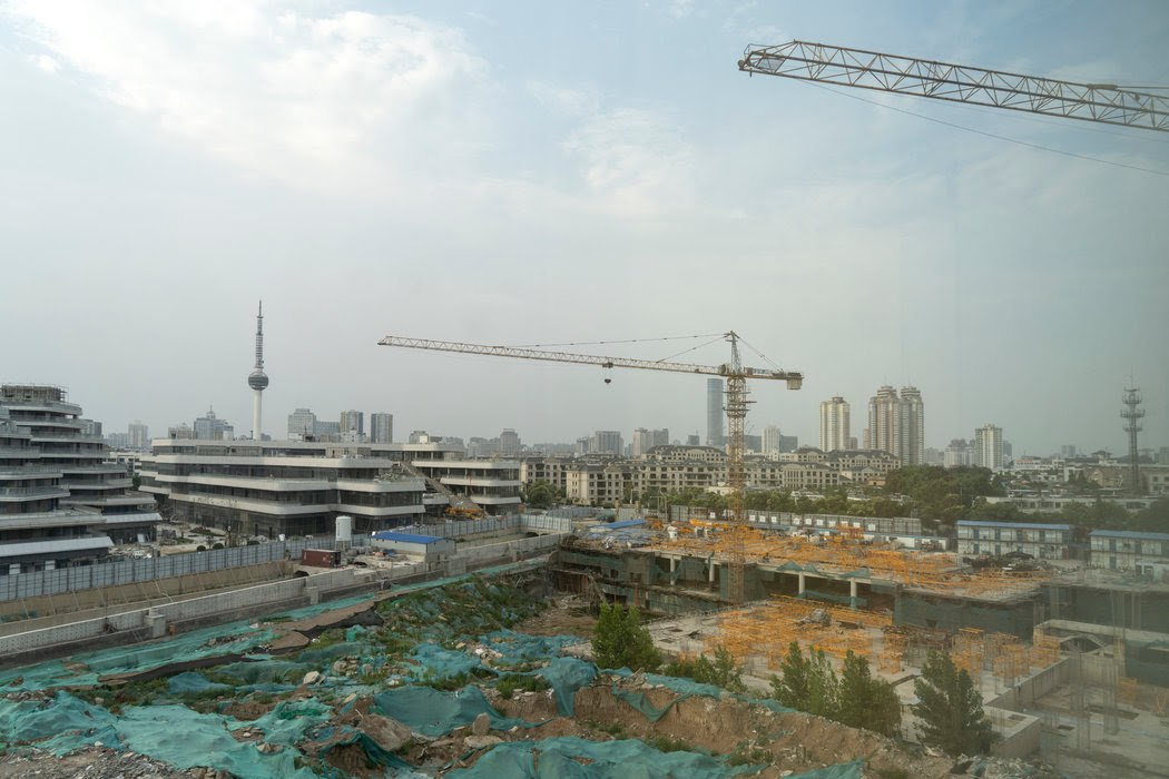 徐州的一个建筑工地。