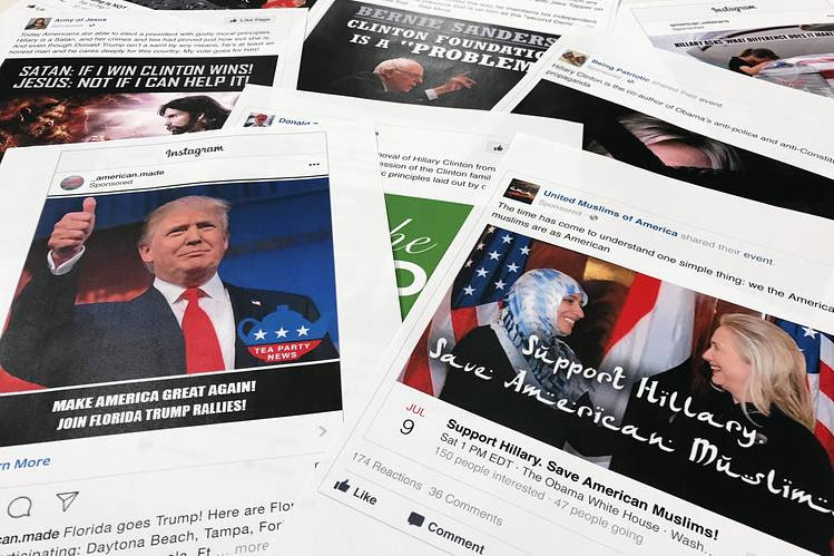Some of the Facebook and Instagram posts linked to a Russian effort to disrupt the American political process, released by the House Intelligence Committee.