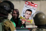 Un manifestante palestino