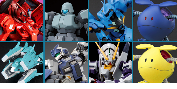 NEW GUNDAM MODEL KITS AND FIGURES