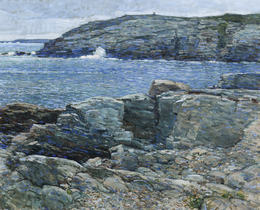 Childe Hassam, East Headland, Appledore-Isle of Shoals, 1911. Oil on canvas. Peabody Essex Museum, Gift of Peter S. Lynch in memory of Carolyn A. Lynch. Photography by Steve Gyurina/Artopia Giclee.