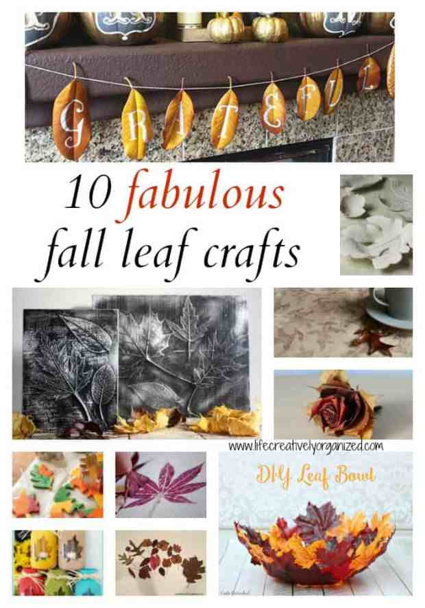 Is fall in the air in your area? Here are 10 fabulous fall leaf crafts that use beautiful fall foliage to decorate your home right now and for Thanksgiving.