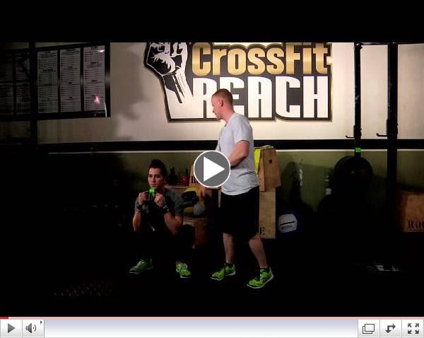 Crossfit Reach Kettle Bell Goblet Squat