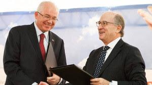 Ramírez y Antonio Brufau, presidente de Repsol