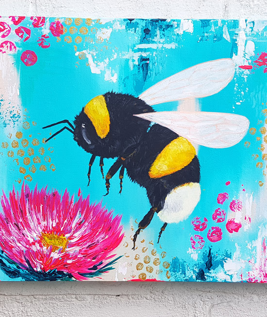 A painting of a bee