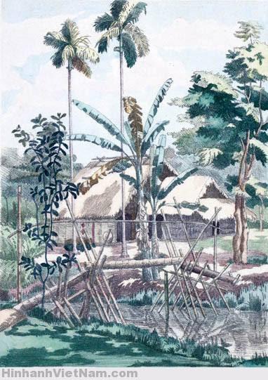 Cầu khỉ trên con rạch ở Sa Đéc