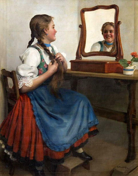 Пимоненко girl-at-the-mirror (482x615, 136Kb)