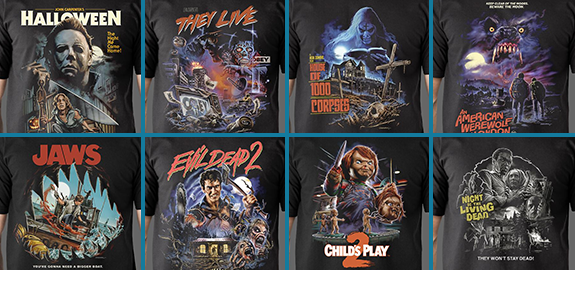 NEW HORROR T-SHIRTS