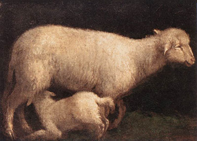 Jacopo da Ponte: Sheep and Lamb