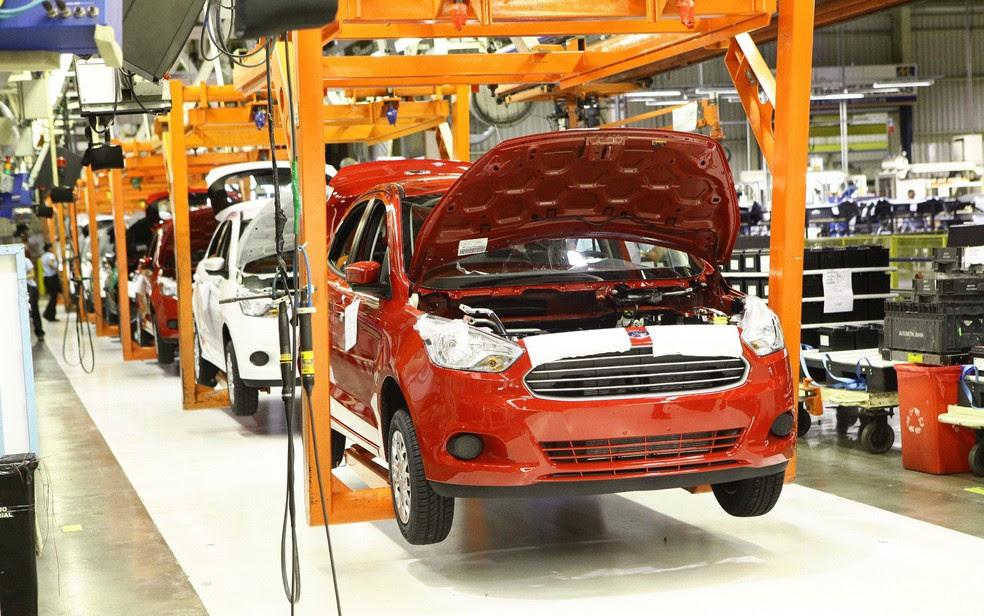 Fábrica do Ford Ka, em Camaçari — Foto: Divulgação