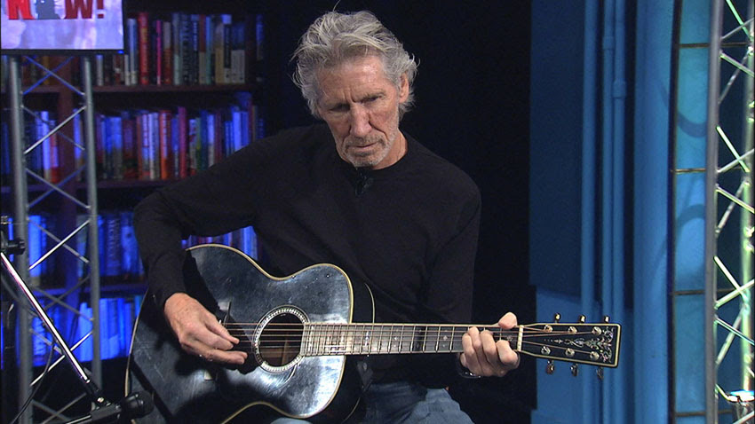 Roger Waters performing live at Democracy Now!