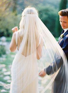 breezy long veil