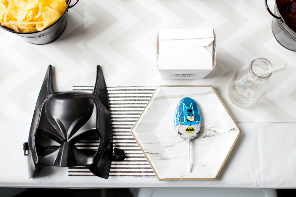 Pop Roc Parties Blog | Beau's Batman Party Table Setting