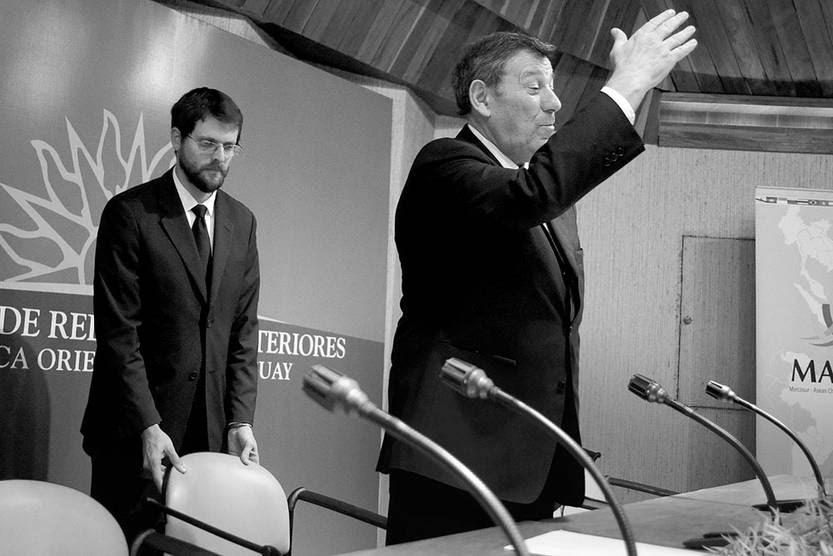 Rodolfo Nin Novoa, ministro de Relaciones Exteriores, ayer, en la sede de la cancillería. Foto: Pablo Vignali