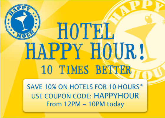 Hotel Happy Hour! Save 10% on Hotels Worldwide @ Zuji.com.au
