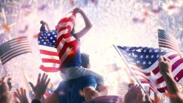 USA Election Victory Celebration Concept