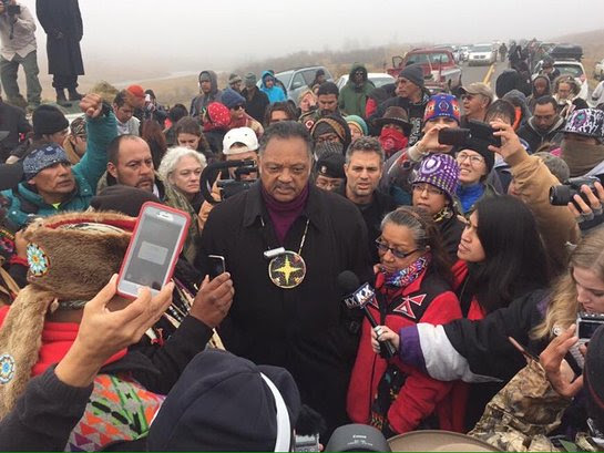 Jesse Jackson and Mark Ruffalo on the frontline in North Dakota