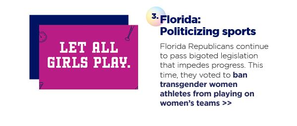 3. Florida: Politicizing sports