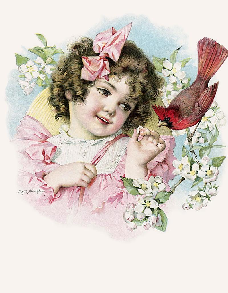 Девочка на старинной открытке, для открытки конверт