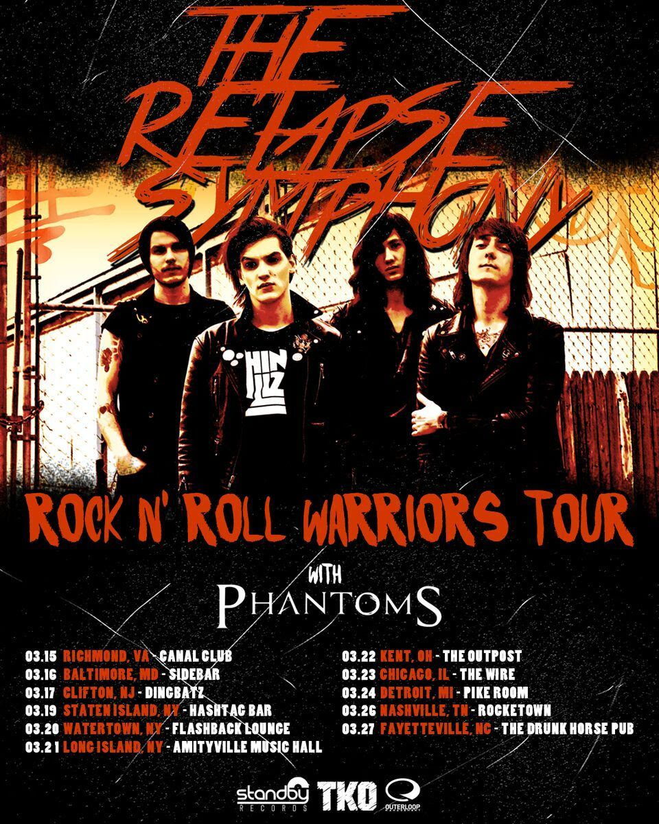 the relapse symphony headline tour feb 2016