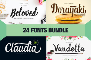 24 Fonts - New Year Bundle