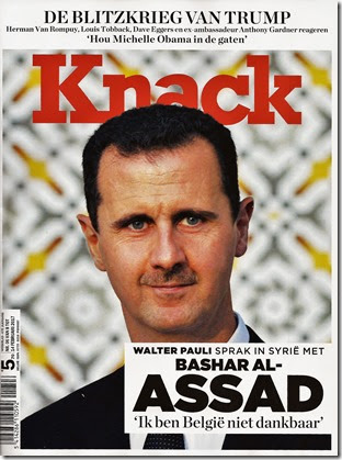 Knack - 14 februari 2017 - Voorpagina Assad