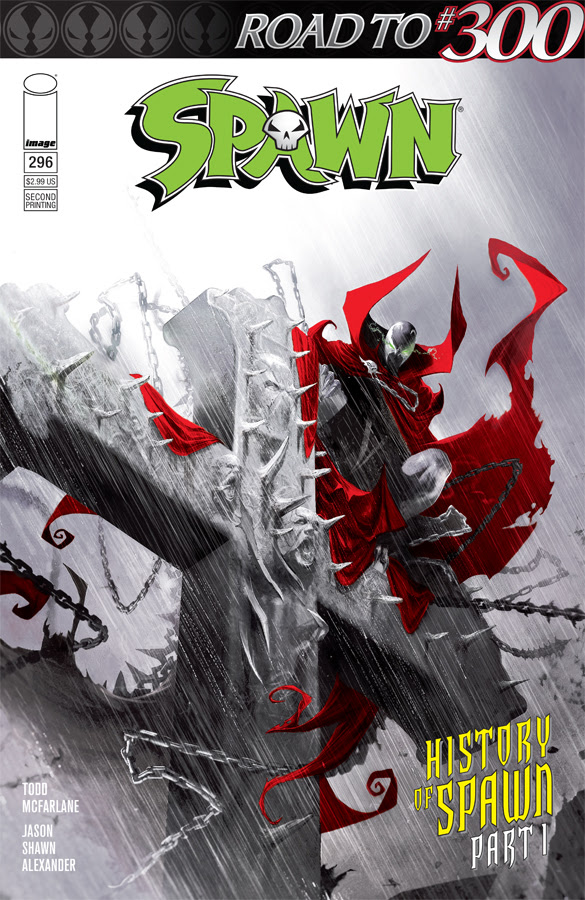 SPAWN #296 2nd ptg cover