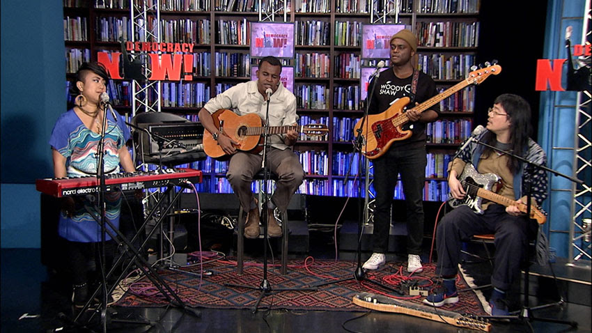 Musician Ahmed Gallab, aka Sinkane, stopped by the Democracy Now! studios to perform and talk about making music as a Sudanese-American artist in the age of Trump.