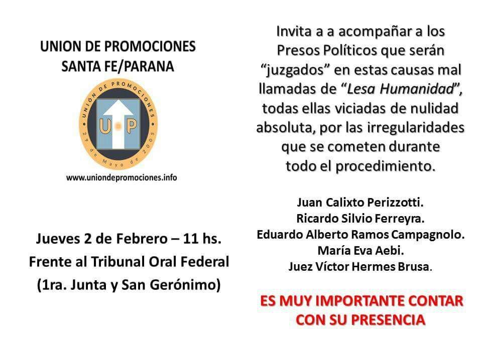 Convocatoria Santa Fe Paraná