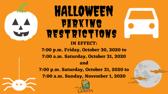 Halloween Parking Restrictions 2020