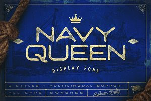 Navy Queen Display Font