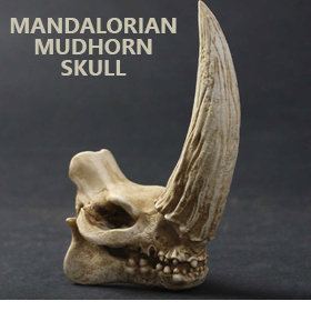 Star Wars Mandalorian Mudhorn Skull Mini Sculpture