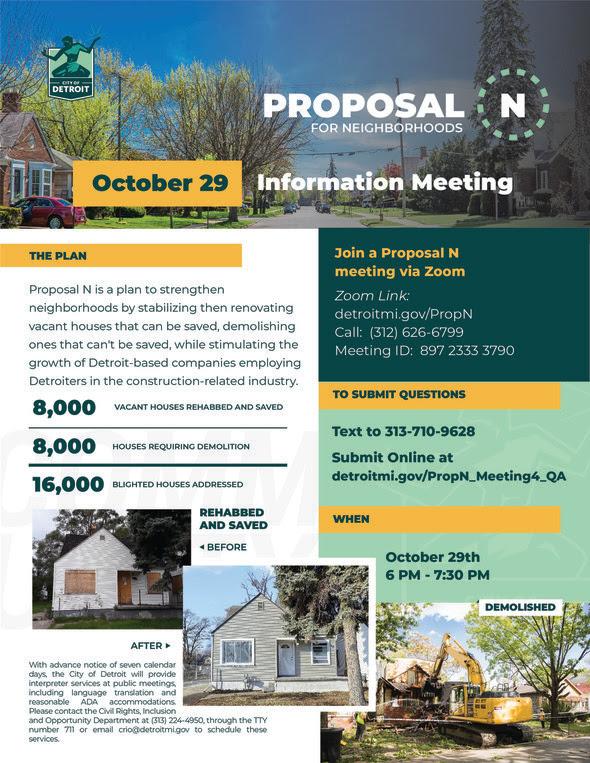 Proposal N Information Meeting Oct. 29