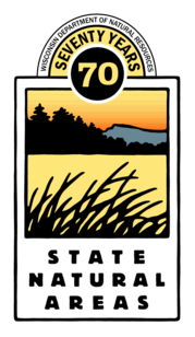 wisconsin department of natural resources state natural areas 70th anniversary logo