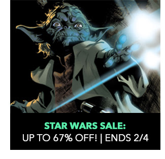 Star Wars Sale: up to 67% off! Sale ends 2/4.