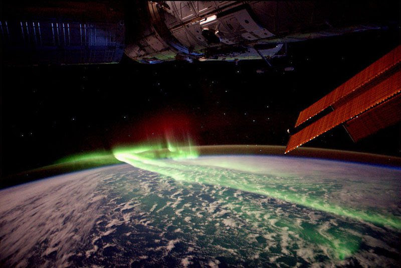 Northern Lights<br>                                                          from space