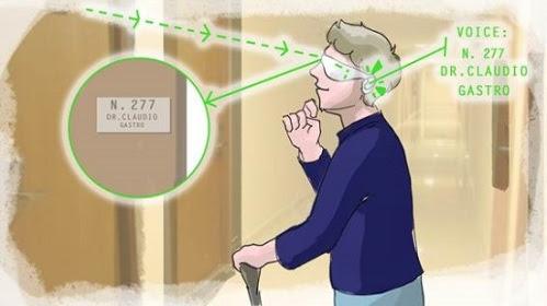 Óculos mapeia e descreve o ambiente