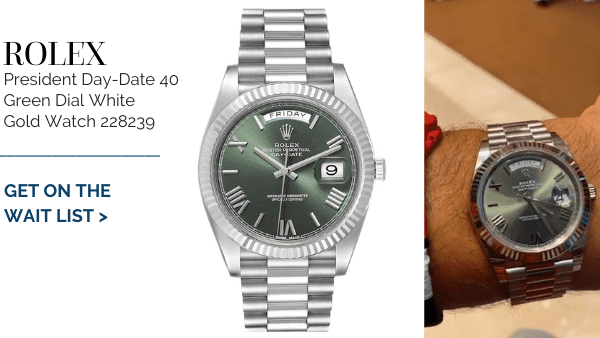 President Day Date Green Dial
