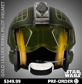 Star Wars Gold Leader Rebel Pilot Helmet 1:1 Scale Wearable Helmet