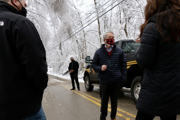 Gov. DeWine tours damages caused by Lawrence Co. ice storm